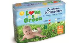 Maeva a testé les couches jetables écologiques Love & Green